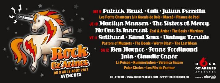 Arènes d'Avenches, Du 9 au 12/08/2017