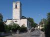 Eglise de Ferney, depuis la rue de l'Eglise