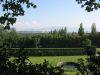 Le parc du château, vue vers le Salève (au fond)