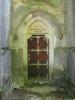 <i>Non est Deus morphuorum sed vivorum</i><br>Petite porte en bas de la chapelle
