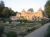 Château et parc au coucher de soleil