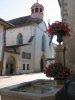 Le Temple, Grand-Rue. Il s'agissait à l'origine d'un couvent dominicain, fondé en 1490 par Amédée de Viry. Le mur de façade date de 1723.