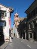 La Grand-Rue de Coppet, les Arcades et le Temple