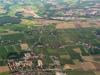 Vue au dessus de Satigny. A droite St Genis et au fond, Thoiry