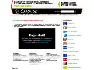 Thumbnail do site Site Officiel de la commune de <b>Carouge</b>