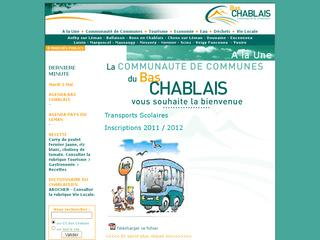 Thumbnail do site Communauté de Communes du Bas Chablais