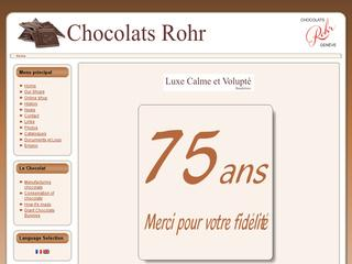 Thumbnail do site Chocolats Rohr SA