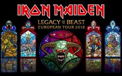affiche IRON MAIDEN - Legacy Of The Beast European Tour 2018