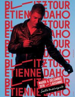 affiche Etienne DAHO « Blitz Tour »