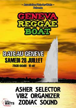 affiche Geneva Reggae Boat