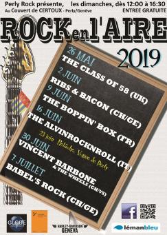 affiche Rock en l'Aire 2019 - The Class of 58