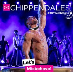affiche The Chippendales « Let's misbehave ! »