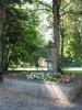 Fontaine fleurie, dans le parc