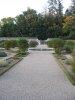 Allée centrale du jardin potager.
