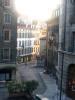 La rue de Saint Léger, vue du Bourg de Four