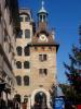 La Tour du Molard (1591 dans sa forme actuelle). Anciennement, elle fermait une des plus anciennes portes de la ville. Un bâtiment (démoli en 1871) à sa droite fermait la place. Le lac allait jusqu'à son pied et une douve permettait de faire décharger des