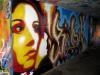 Tags dans un passage sous-voie, pont de Saint Georges