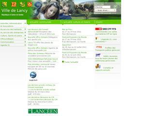 thumb Site Officiel de la commune de Lancy